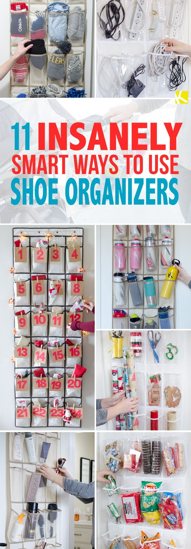 11 Insanely Smart Ways to Use a Shoe Organizer
