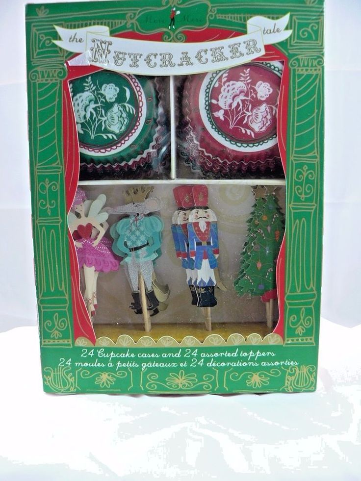 Meri Meri The Nutcracker Christmas Cupcake Cases & Toppers Ballerina Tree #MeriMeri