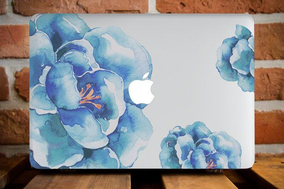 MacBook Air 11 Plastic Cover MacBook Pro 13 Case Girlfriend Gift MacBook Air 13 Inch Case MacBook Pro Cover Laptop Accessories Blue Flowers