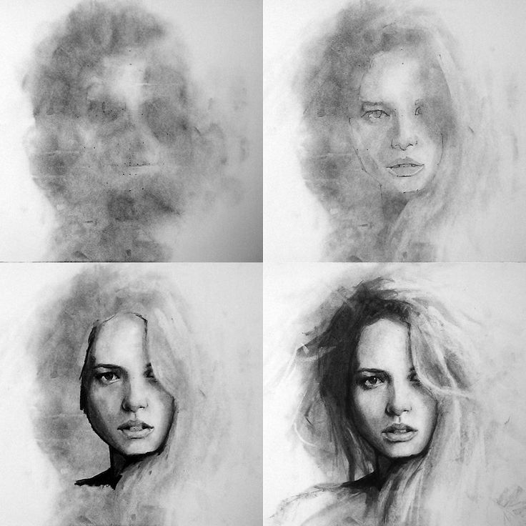 El proceso para realizar un retrato al carboncillo por Stefan Harris