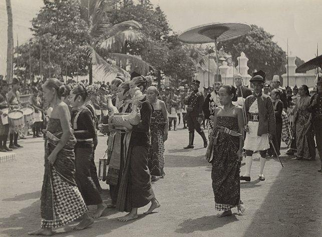 Garebeg in Jogyakarta, jaar onbekend.