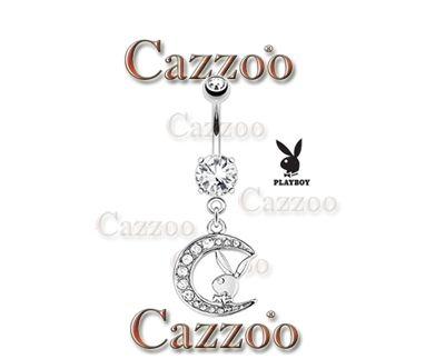 NP943 Playboy bunny navlepiercing med vedhæng smykker navle