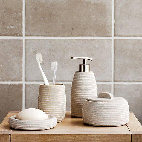John Lewis Mint Sandstone Bathroom Accessories Online At Johnlewis Com