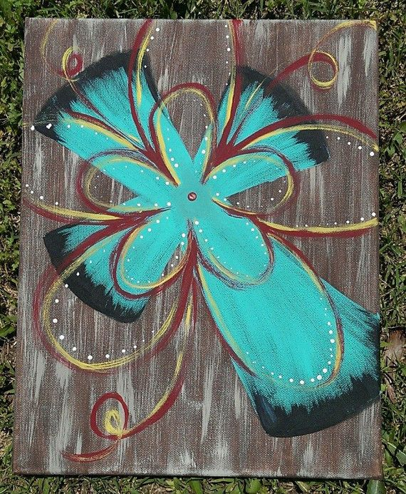 I love this!  Etsy listing at https://www.etsy.com/listing/190127955/rustic-teal-cross-painting