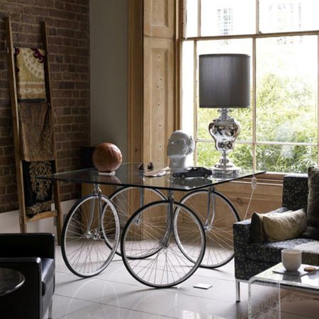 Bicycle wheeled table