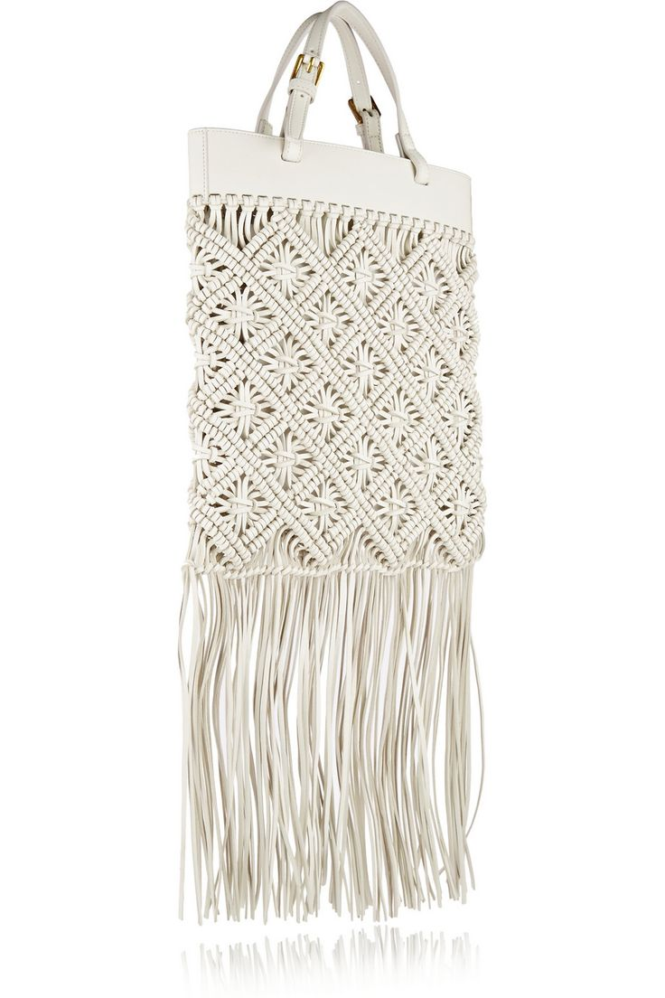 Tory Burch | Fringed macramé leather tote