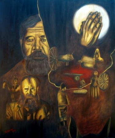 SA History (Siener van Rensburg and his visions) oil painting by Yolande Havenga