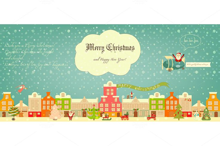 Christmas characters on City by elfivetrov on @creativemarket