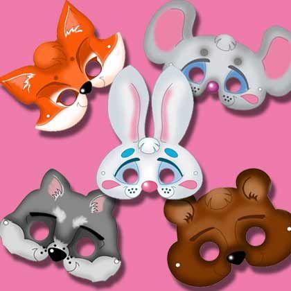 Fox, mouse, bunny, wolf, bear