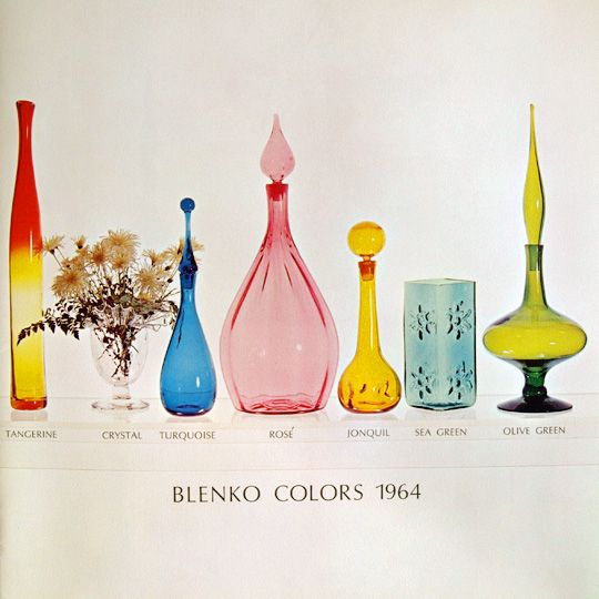 Vintage Blenko colors