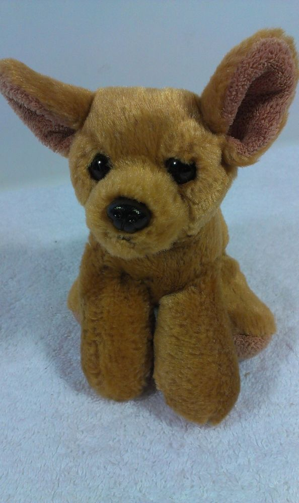 d08cd728265 Aurora Baby Brown Beanie Chihuahua Puppy Dog Stuffed Plush Animal Toy 5