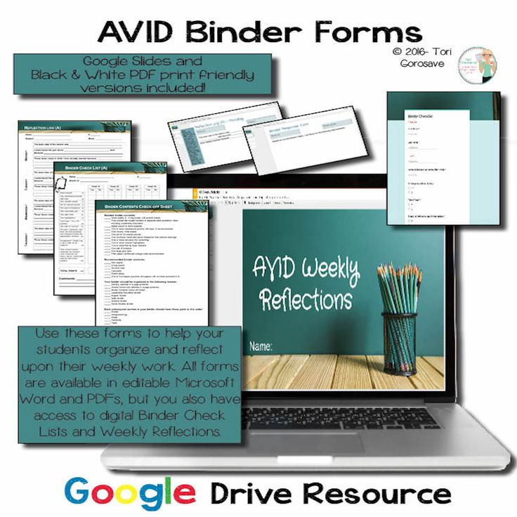 Avid style binder check forms learning logs google for Avid learning log template