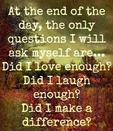 End of day questions quote via Living Life at www.Facebook.com/KimmberlyFox.39