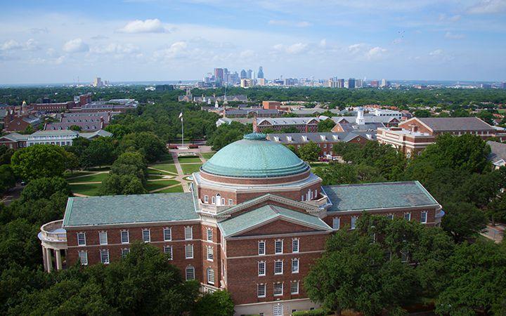 Smu Campus With Dallas Skyline Dallas Pinterest