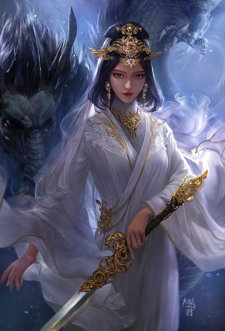 картинки фэнтези красивые китаянки украшаем основание