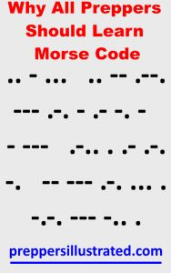 Check out this article that will tell you why I think it's a good idea for survival enthusiasts to learn Morse code: http://preppersillustrated.com/1054/how-to-learn-morse-code-for-survival-situations/
