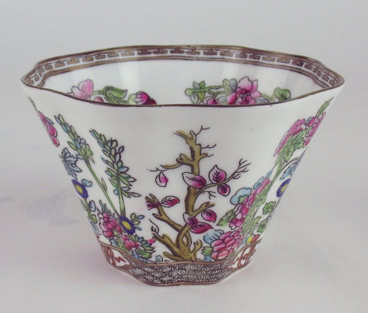 Slop Cranberry Sugar Bowl Coalport Indian Tree Vintage England Multicolor | eBay