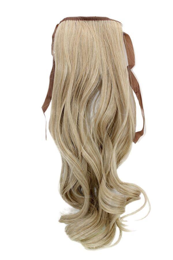 91615b04e61 hairpiece plait Blonde mix Wavy 17 11/16in yzf-tc18-24bt613 Band Clip  Extension 4260266752327 eBay#Wavy#plait#hairpiece