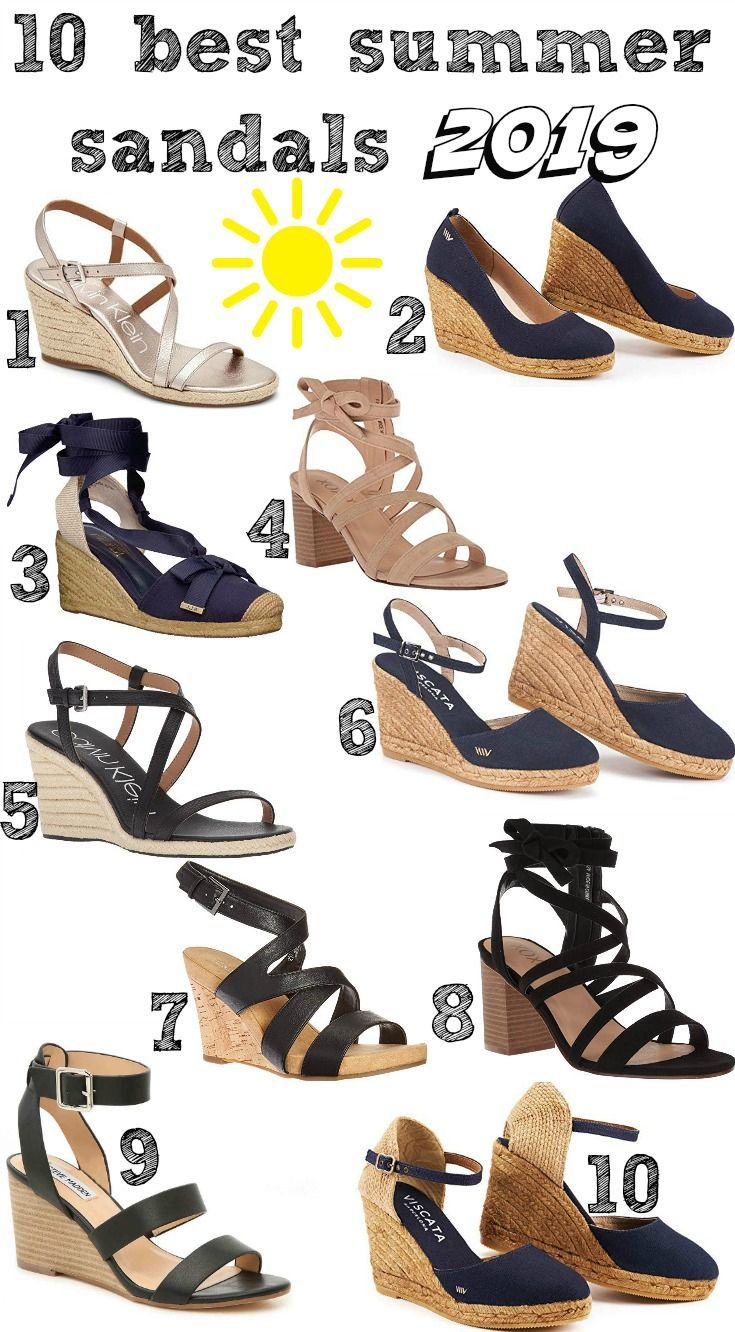 34f8f1d68 10 BEST SUMMER SANDALS 2019 | BEST OF BEAUTY BLOGS | Sandals, Fashion,  Fashion over 40