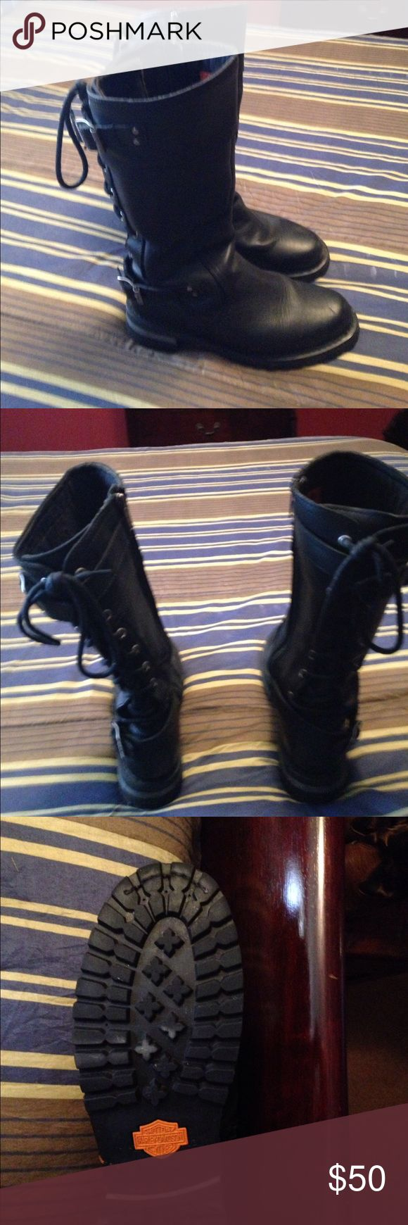 Harley Davidson boots size 9 women Size 9 like new women's Harley Davidson boots Harley-Davidson Shoes Lace Up Boots