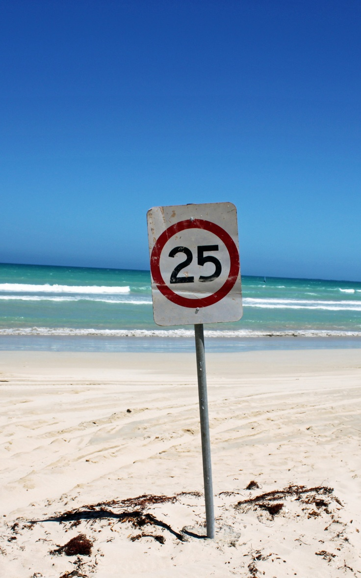 Speed limit  at the beach Kangaroo Island