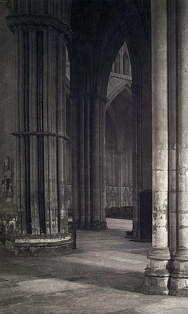 Frederick H. Evans. 'View across the nave to the transept at York Minster' 1901