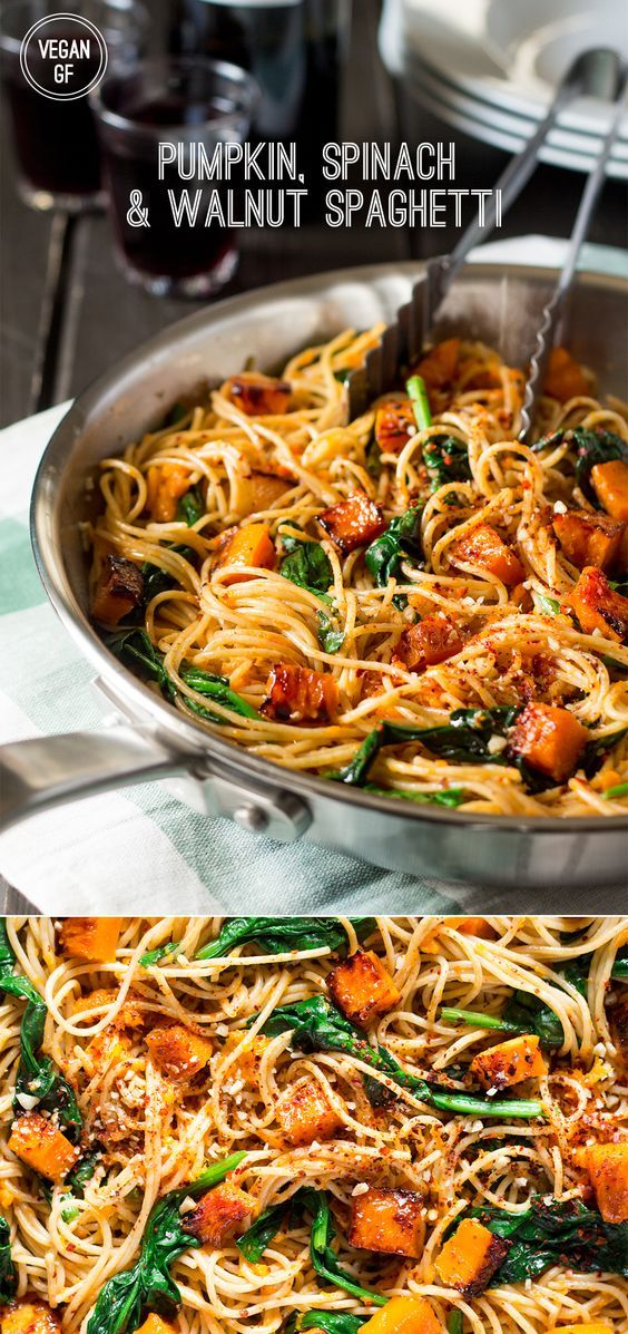 """This recipe is from an Australian website, so """"pumpkin"""" is actually """"butternut squash"""". Fantastic, easy dinner for a busy weeknight.(Spaghetti Recipes Sauce)"""