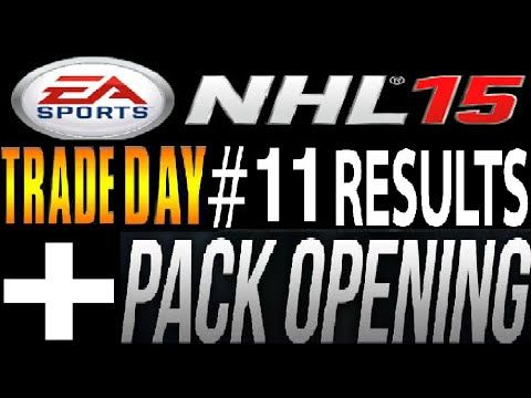 NHL 15 Trade Day #11 Results + 4 Free Pack Openings!!!