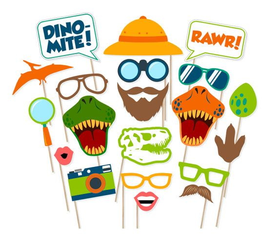Printable Dinosaur Photo Booth Props - Dinosaur Photobooth Props - Dinosaur…