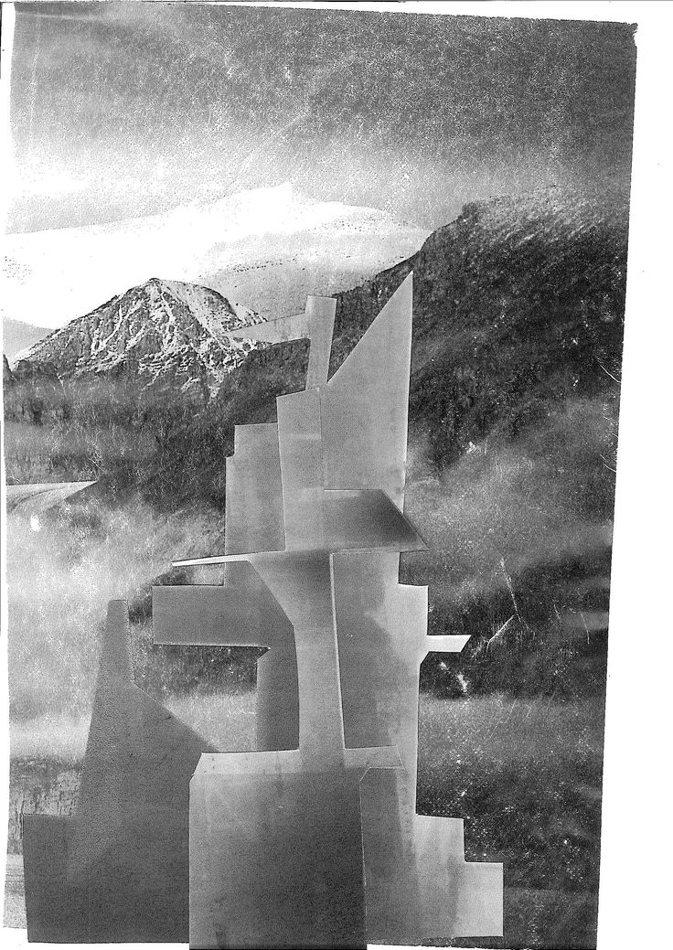 Monument series, 2013, collage.