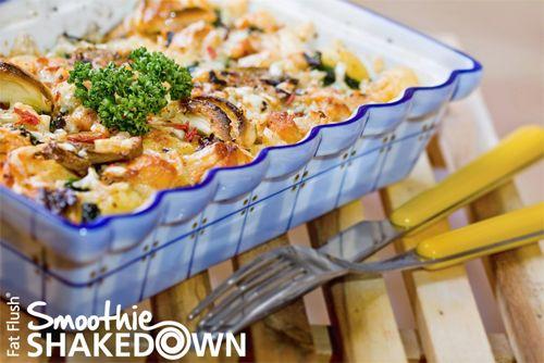 Garlicky Chicken Casserole- Official Fat Flush Smoothie Shakedown Recipe