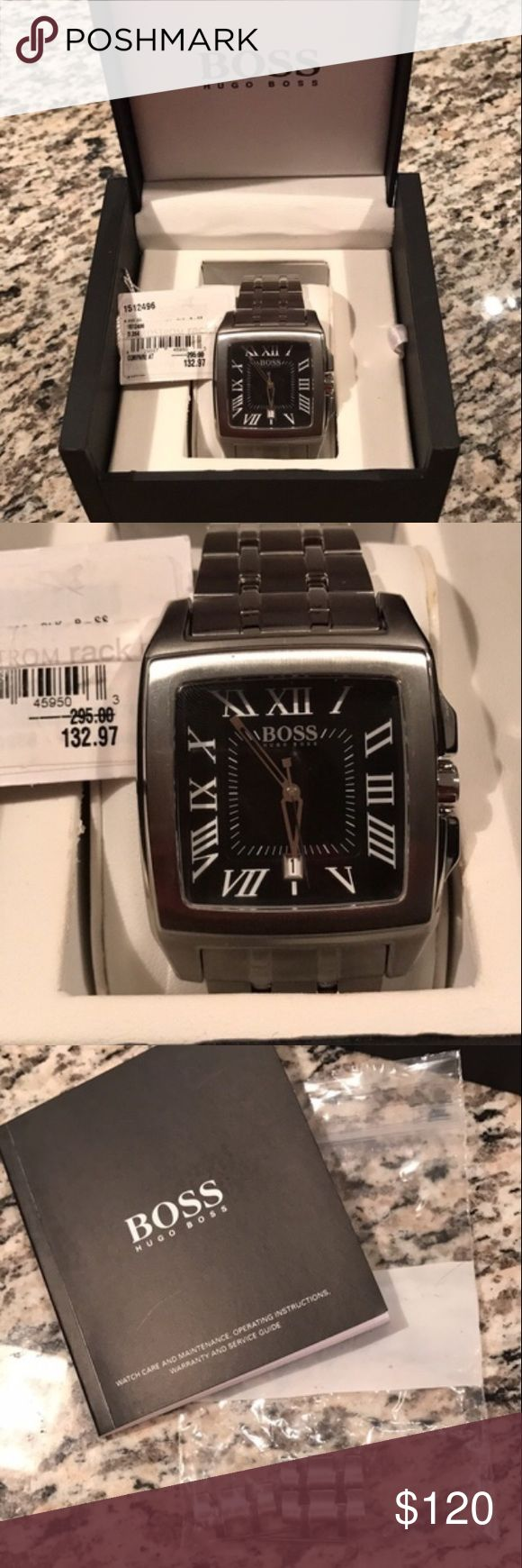 Hugo Boss Men's watch Brand new never worn Hugo Boss watch! Includes original box, sales tag, instruction manual, and extra links. 😎 Hugo Boss Accessories Watches