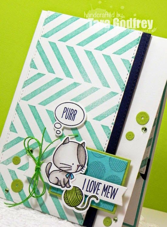 Inking on the Edge: My Favorite Things Stamps...Color Challenge # 19...I Love Mew