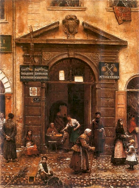 Gate of the Old Town, 1883, Aleksander Gierymski. Polish (1850-1901)