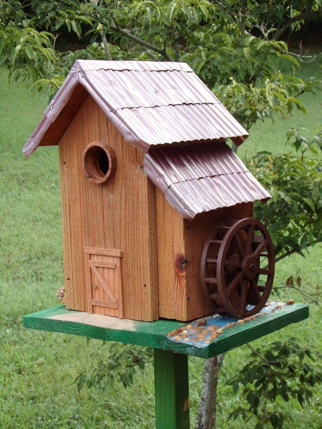 Water Wheel Birdhouse Bird Houses Wooden Bird Houses Water Wheel