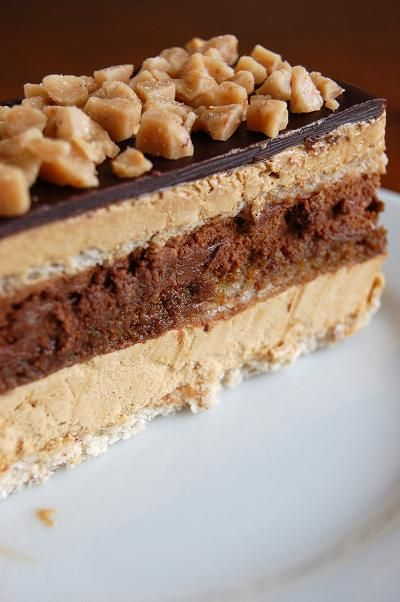 Contraband Coffee, Chocolate, Toffee Opera Cake - Oh, my - have to try! RECIPE