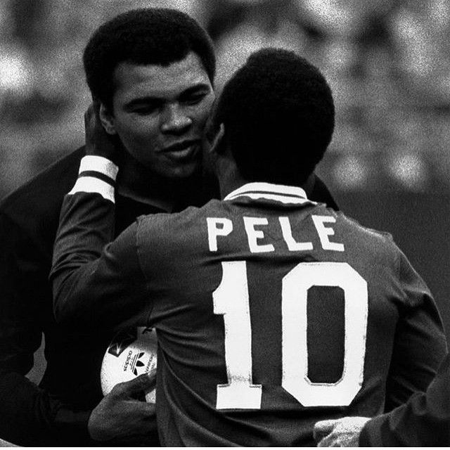 2 Legends in 1 photo #goalcountry #pele #ali