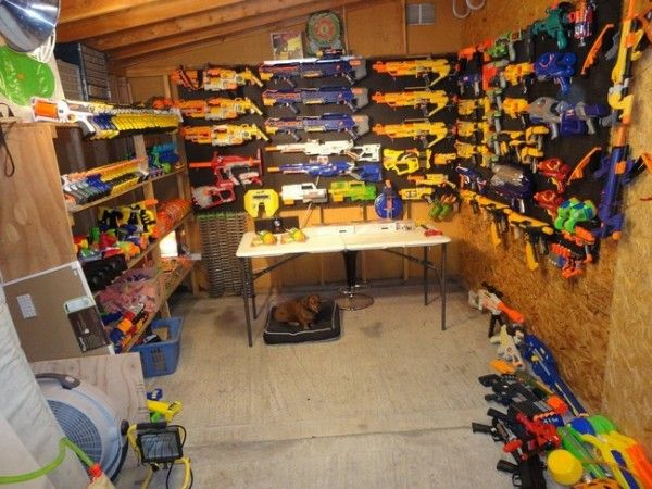 "Nerf guns (because zombie invasion or no zombie invasion, ""it's NERF... or nothin'!"")"