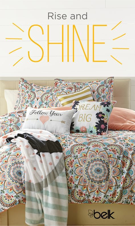 Brighten up your bedroom for summer with new quilts and comforters in fun prints and saturated colors. From lightweight duvet comforters to super-soft sheets and shams, there are so many ways to freshen up your space. We have a variety of styles and sizes, from twin to classic queen size quilts and beyond. Shop summer bedding in store or online at Belk.com.
