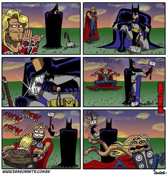 Batman 1 - Thor 0 ! - Be-troll - vidéos humour, actualité insolite