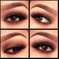 beautiful for brown, wedding eye makeup