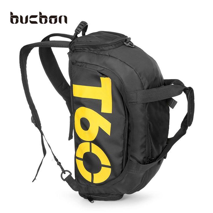 Bucbon Multi-use Portable Sports Gym Backpack Shoulder Bag Separated Shoes Storage Fitness Bag Men Outdoor Travel Bagpack HAB097