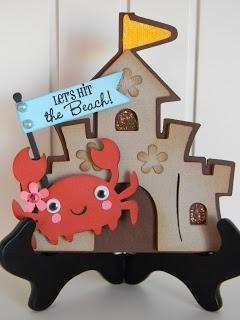 Cricut Beach Card. Create a Critter Cartridge.  *