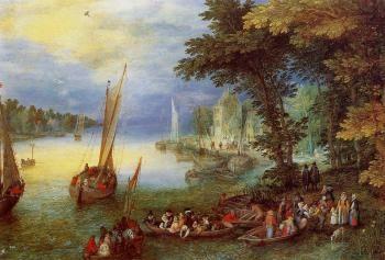 River Landscape - Jan Bruegel the Elder - The Athenaeum