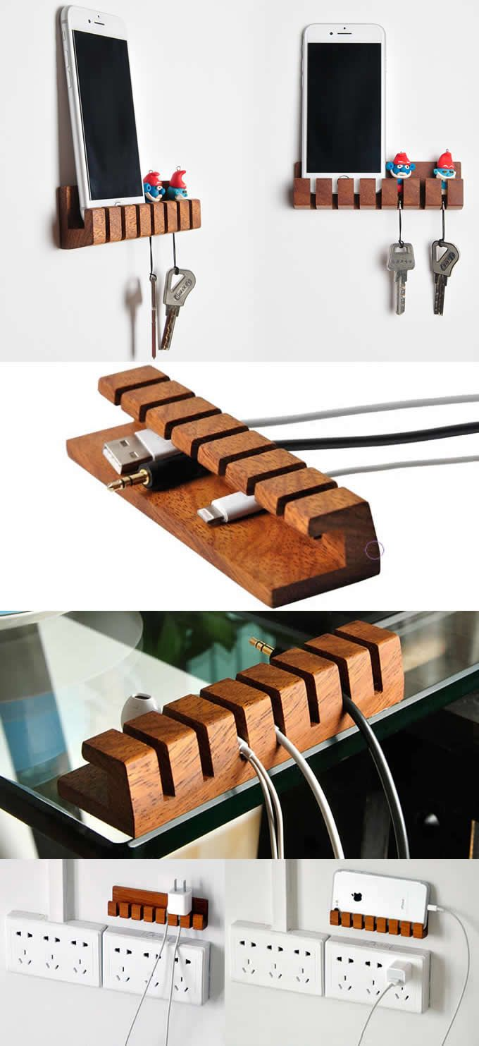 Wooden Usb Winder Cable Organizer Cord Cable Clip Holder Cord Organizer Manager Management Clips Cable Holder Sy Cable Organizer Cord Organization Cable Holder