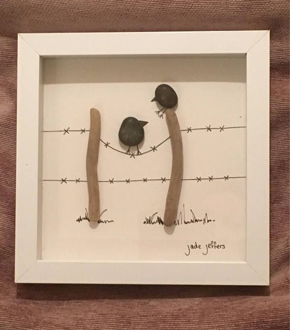 Beachcombing Art Picture A perfect gift All items found by me on UK Beaches