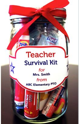"""Welcome back your teachers with a fun """"survival kit."""""""