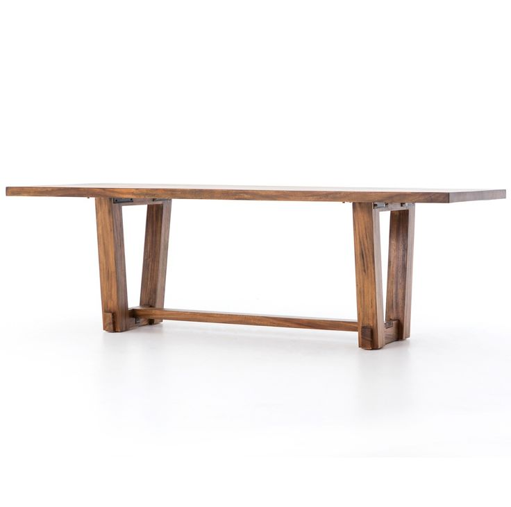 """Beam Natural Solid Wood Dining Table 94""""   Zin Home"""