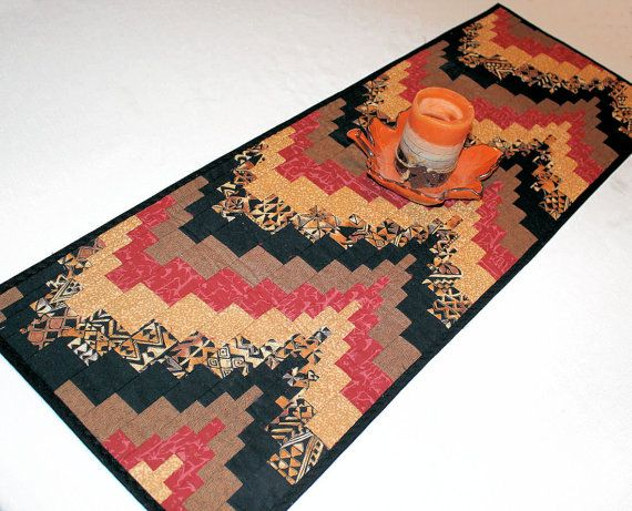 Bargello Southwest Quilted Table Runner In By QuiltSewPieceful