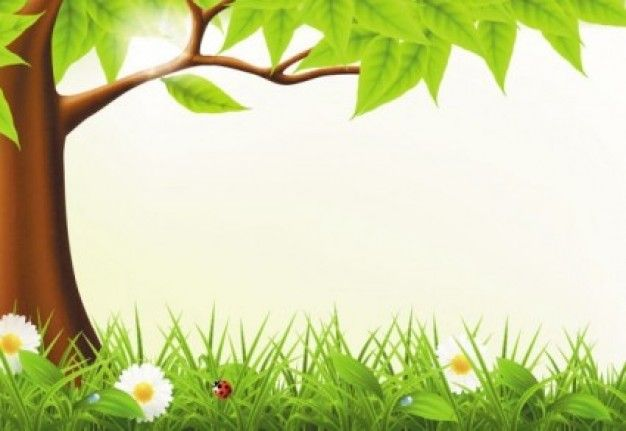 Cute forest spring vector